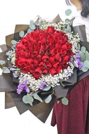 99 rose bouquet