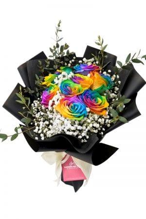 rainbow-rose-bouquet